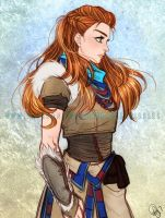 Patreon Reward- Aloy from Horizon Zero Dawn by Roots-Love