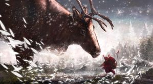Santa makes his pledge to the Reindeer God. by KeithSeymour