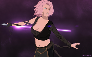 Sakura Jedi Knight by UnreaLPiXel