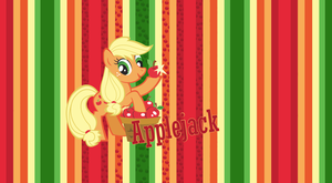 Applejack Wallpaper Stripes by StrawberryHollow