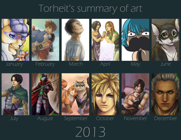 Summary of art 2013 by Torheit-Skadi