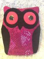 Pink Sparkly Owl by dracosear