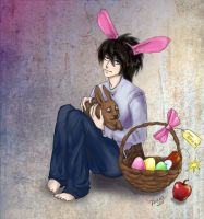 Death Note: L's Happy Easter by IPPO-Lita