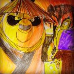 Dragon Warrior Po meets Toon Clyde by Africa2000
