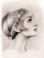 Carey Mulligan as Daisy Buchanan in Great Gatsby by Adelmort