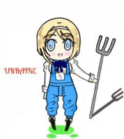 Another Chibi Ukraine drawing ^-^ by A-Gentle-Flower