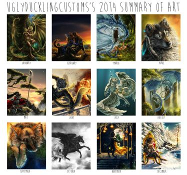 Art summary - 2014 by Marawuff