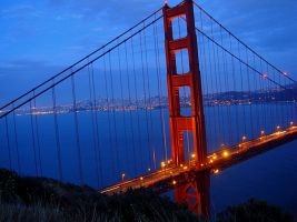 San Francisco through the Gate by ceruleanBloo