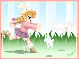 The bunnies have escaped!! by Ethevian