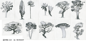 Tree Designwork Compilation 1 by Silvac