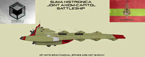 Suma Histrionica Joint Axiom-Capitol Battleship by EmperorMyric