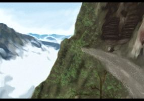 The Cliff - photoshop by PlasticFrogCG