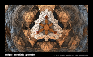 antique snowflake generator by fraterchaos