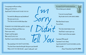 Digital Typography I'm Sorry2 by ConfusedLittleKitty