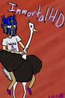 ImmortalHD and his battle castle ostrich by Thirtteenties