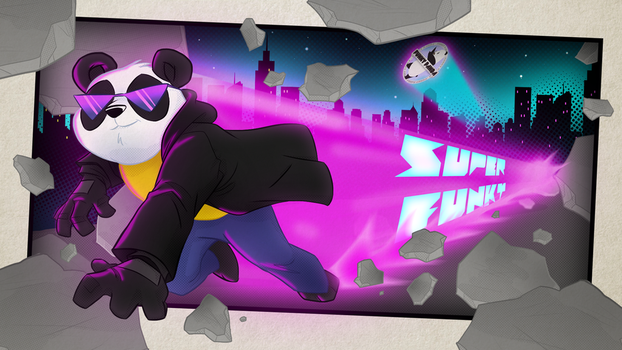 Super Funky Comic Book Style Wallpaper by FunkyyPanda