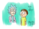 Rick And Morty by beanzomatic