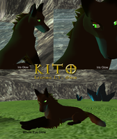 KITO - Eye Glow in Darkness Test by Some-Art