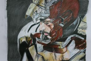 Iron man 3 portrait drawing by tommynam