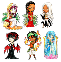 - Christmas Gift - Chibi Set 2 - by ooneithoo