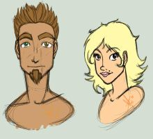 Liam and Kimberlina sketches by Smashley-XD