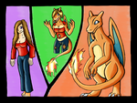 Lady Charizard TF Point Commish by V8Arwing67