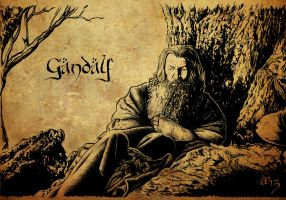 Gandalf the Grey by AlessiaPelonzi