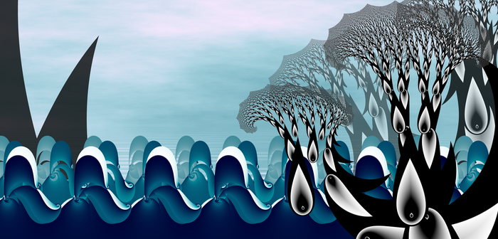 The sharks in seas of crying trees by Fiery-Fire