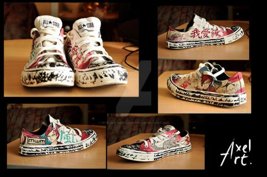 Gaara Sneakers by Petronelodinobrianna