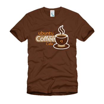 Ubuntu Coffee Cafe T-Shirt by papandtc
