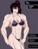 Manga Muscle Girl Okoi by elee0228
