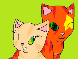 Firestar and Sandstorm by skyclan199