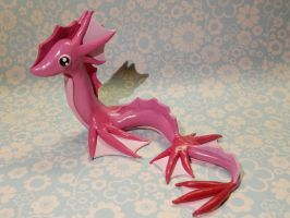 Pink Sea Serpent by Snowifer