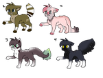Adoptable batch 2 by TabbyFeather