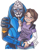 Garrus And Coley by CrystallineColey