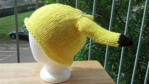 Knit Pikachu Hat by aetherfang