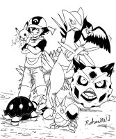 Ash Hoenn Team by Rohanite
