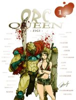 Orc queen -  color cover by DodiZigi