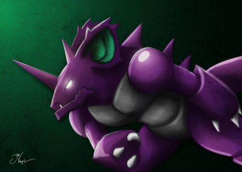 Nidoking by Stag-Cavaliere
