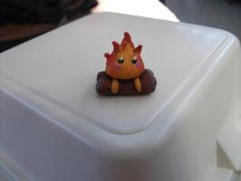 Calcifer keeps my lunch warm by MonsterkittenCrafts