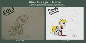 Draw this again - Derpy in the snow by MrVava63