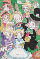 Alice in Wonderland Hetalia version 7 colored by HidetamaNguyen1994