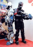 Dead Space 3 - Isaac and Carver Cosplay by Pyroantiform