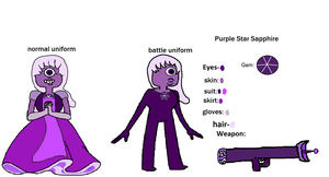 Purple Star Sapphire's reference sheet by ProtanaArchives94