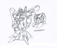 My Movie Starscream sketch by NachoMon