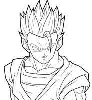 Mystic Gohan preview by drozdoo