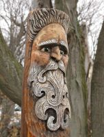 Wood Spirit Wood Carving by RiverOtterWidget