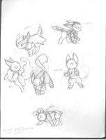 Eevee Evolutions by nyausi