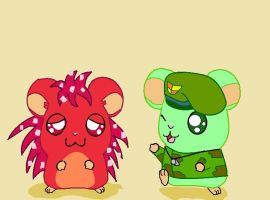 hamtaro flaky and flippy by Xxcandywater-fallsxX