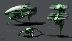 Alien Vehicles 2 by PeterPrime
